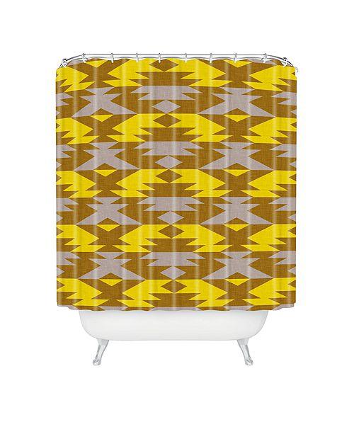 Deny Designs Holli Zollinger Bright Native Diamond Shower Curtain