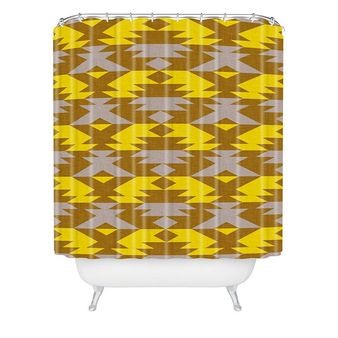 Deny Designs Holli Zollinger Bright Native Diamond Shower Curtain
