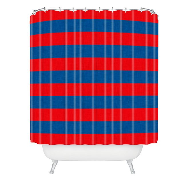 Deny Designs Holli Zollinger Rugby Stripe Shower Curtain
