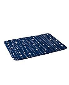 Heather Dutton Navy Entangled Bath Mat