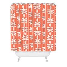Heather Dutton Abadi Coral Shower Curtain