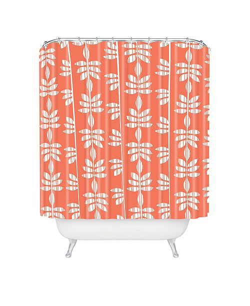 Deny Designs Heather Dutton Abadi Coral Shower Curtain