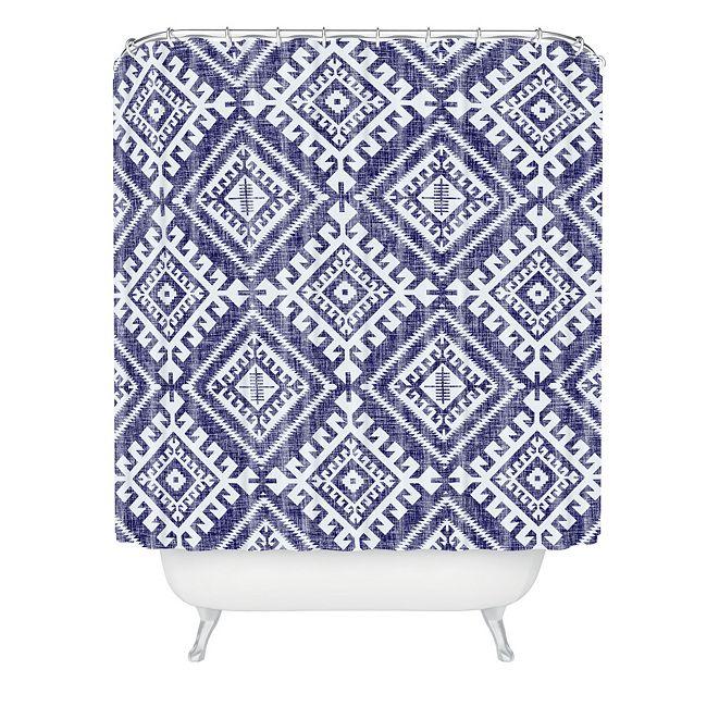 Deny Designs Holli Zollinger Shakami Denim Shower Curtain
