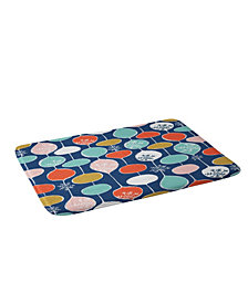 Deny Designs Heather Dutton Snowflake Holiday Bobble Chill Navy Bath Mat