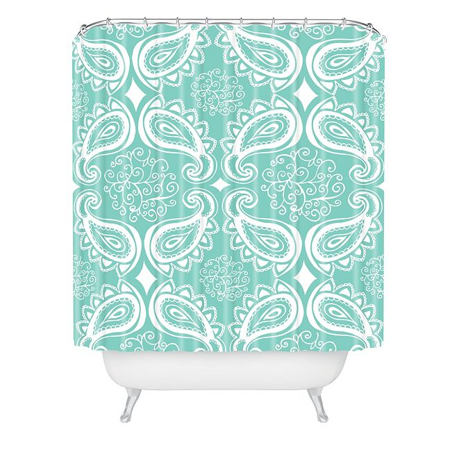 Deny Designs Heather Dutton Plush Paisley Seaspray Shower Curtain
