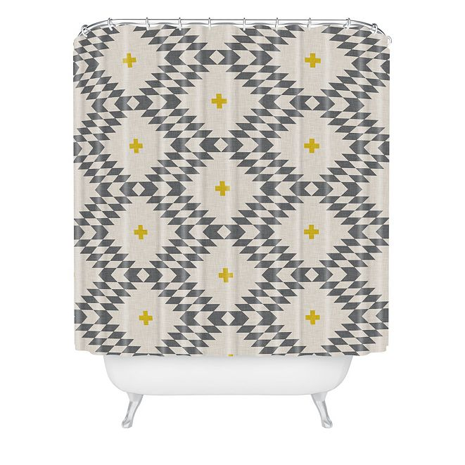 Deny Designs Holli Zollinger Native Natural Plus Gold Shower Curtain