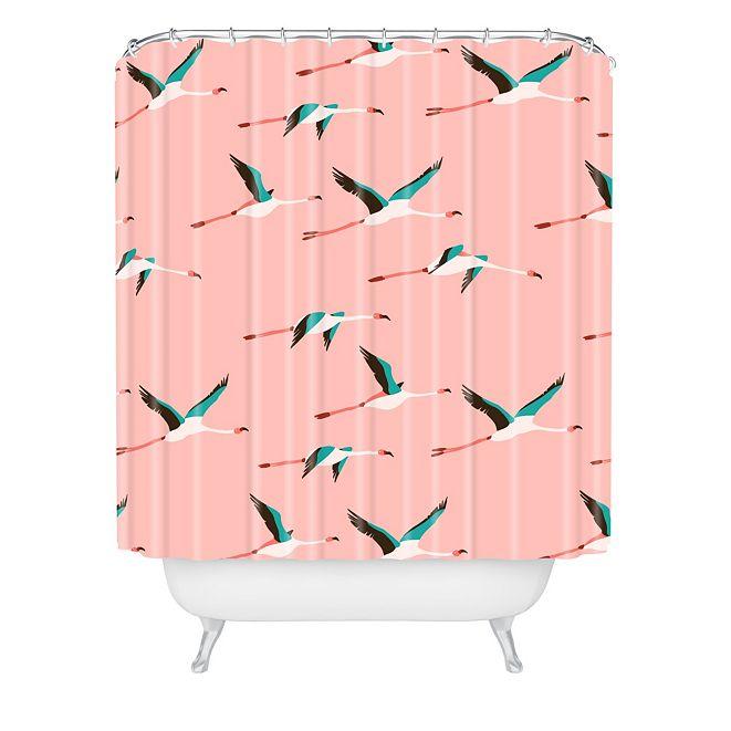 Deny Designs Holli Zollinger Flamingo Pink Shower Curtain