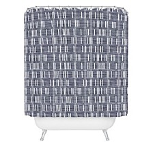Holli Zollinger Bogo Denim Mudcloth Light Shower Curtain