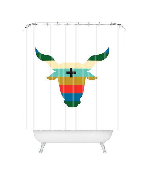 Deny Designs Holli Zollinger Zodiac Taurus Shower Curtain