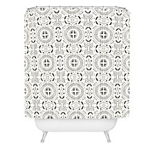Holli Zollinger Mandala Tile Light Shower Curtain