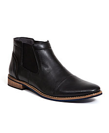 Deer Stags Men's Argos Memory Foam Dress Comfort Casual Fashion Cap Toe Chelsea Boot