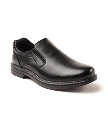 Deer Stags Men's Nu Media Waterproof Memory Foam Slip-Resistant Classic Dress Comfort Slip-On