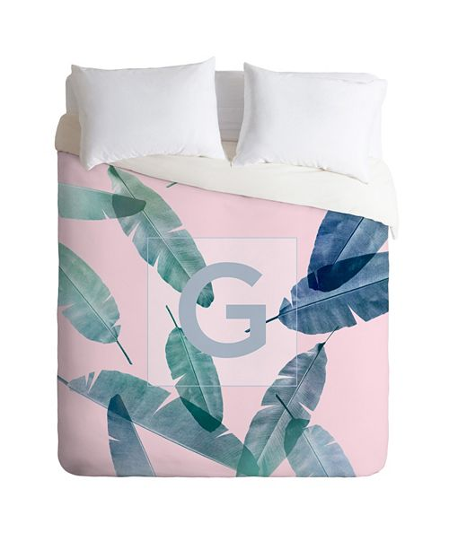 Deny Designs Iveta Abolina Peaches N Cream G Queen Duvet Set