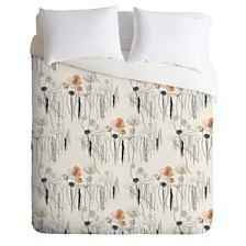 Deny Designs Iveta Abolina Coral Watercress Pond Queen Duvet Set