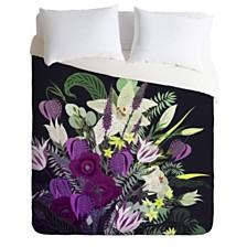 Deny Designs Iveta Abolina Viola Garden Twin Duvet Set