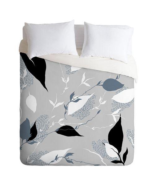 Deny Designs Iveta Abolina Scandi Ice Tan Twin Duvet Set