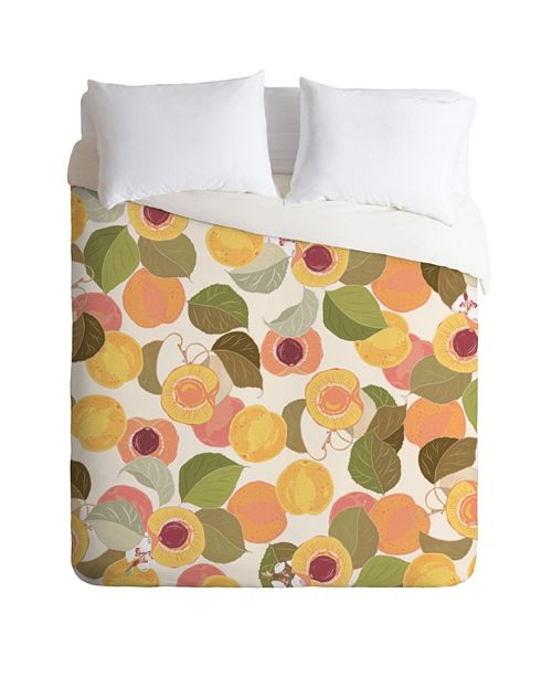 Deny Designs Iveta Abolina Georgia Peach I Twin Duvet Set
