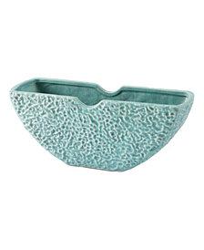 Lineal Half Moon Bowl Matte Green