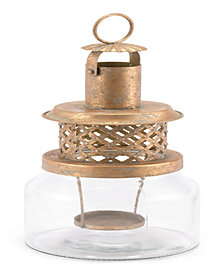 Steam Lantern Sm Antique Gold