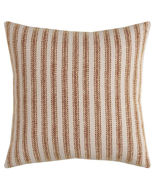 "Rizzy Home 20"" x 20"" Ticking Stripe Poly Filled Pillow"