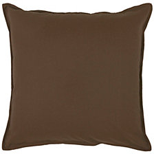 "Rizzy Home Solid Brown 20"" X 20"" Poly Filled Pillow"