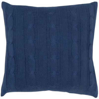 "18"" x 18"" Cable Knit Poly Filled Pillow"