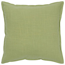 "Rizzy Home Solid Green 20 "" X 20"" Poly Filled Pillow"