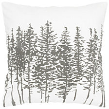 "Rizzy Home White 18"" X 18"" Trees In A Line Poly Filled Pillow"