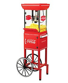 Nostalgia Coca-Cola 2.5-Ounce Popcorn Cart - 48 Inches Tall