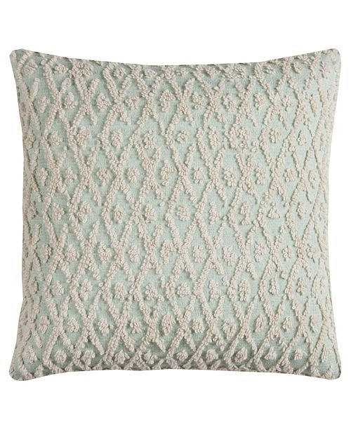 "Rizzy Home 20"" x 20"" Textured Pillow Poly Filled"