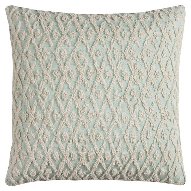 """Rizzy Home 20"""" x 20"""" Textured Pillow Poly Filled"""