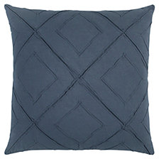 "Rizzy Home Blue 20"" X 20"" Geometrical Design Poly Filled Pillow"