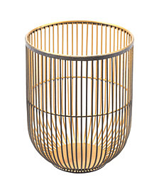 Jaula Candle Holder Sm Matte Black&Gold