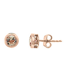 EFFY® Morganite (1-1/10 ct.t.w.) Studs in 14k Rose Gold