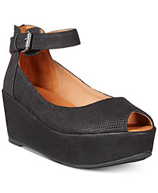 Gentle Souls By Kenneth Cole Nyssa Platform Wedge Sandals