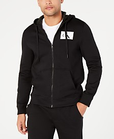 Calvin Klein Jeans Men's Zip-Front Monogram Hoodie,Created for Macy's