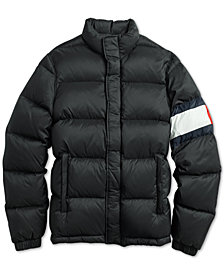 Tommy Hilfiger Adaptive Men's Elite Solid Puffer with Magnetic Zipper