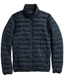 Tommy Hilfiger Adaptive Men's New Platinum Insulator Jacket with Magnetic Zipper