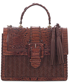 Brahmin Francine Ross Embossed Leather Satchel