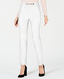 JM Collection Petite Chain-Accent Pull-On Pants, Created for Macy's