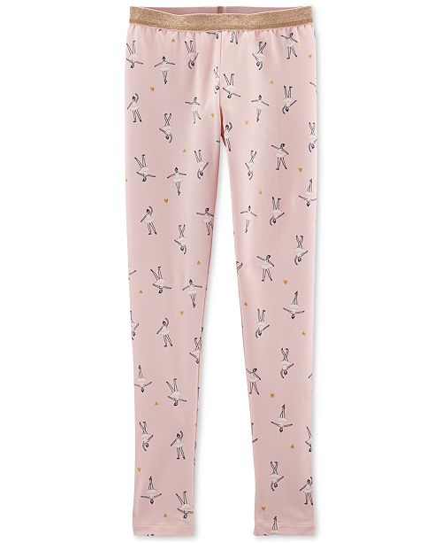 62f9f5d3a667d Carter's Big & Little Girls Ballerina-Print Leggings & Reviews ...