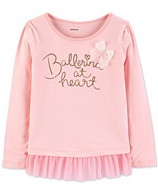 Carter's Little & Big Girls Ballerina at Heart Graphic Top