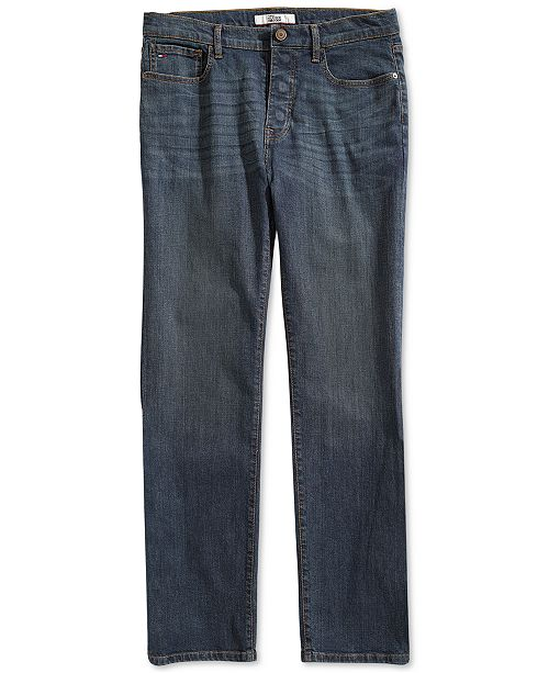 Tommy Hilfiger Men's Relaxed Oscar Jeans with Magnetic Fly