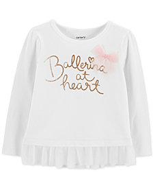 Carter's Toddler Girls Ballerina at Heart Graphic Top