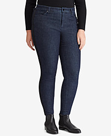Lauren Ralph Lauren Plus Size Striped Regal Skinny Jeans