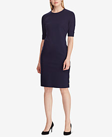 Lauren Ralph Lauren Button-Trim Ponté-Knit Dress