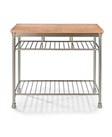 Home Styles French Quarter Butcher Block Top Kitchen Island