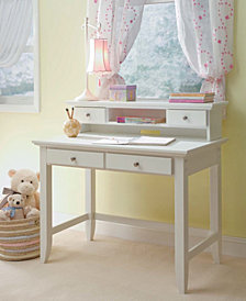 Home Styles Naples White Student Desk and Hutch