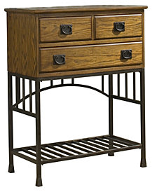 Home Styles Oak Hill Distressed Oak Server