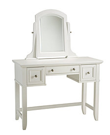 Home Styles Naples White Vanity Table